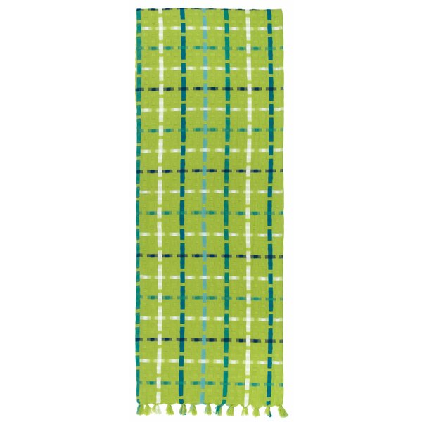 Samouri 100% Cotton Lime Rickey Plaid Table Runner (Set of 2) by Latitude Run